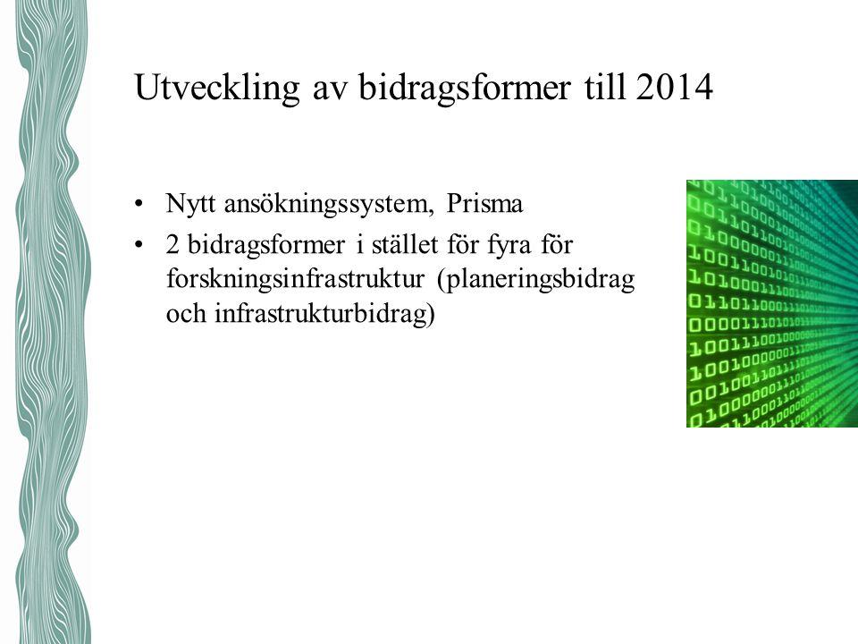 Utveckling av bidragsformer till 2014