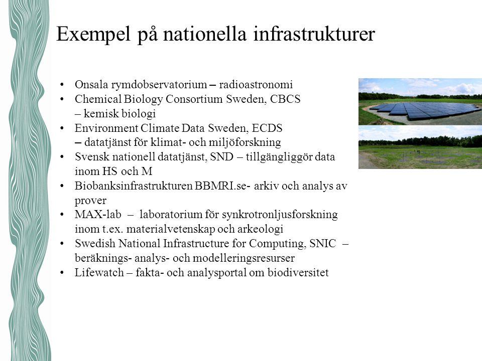 Exempel på nationella infrastrukturer