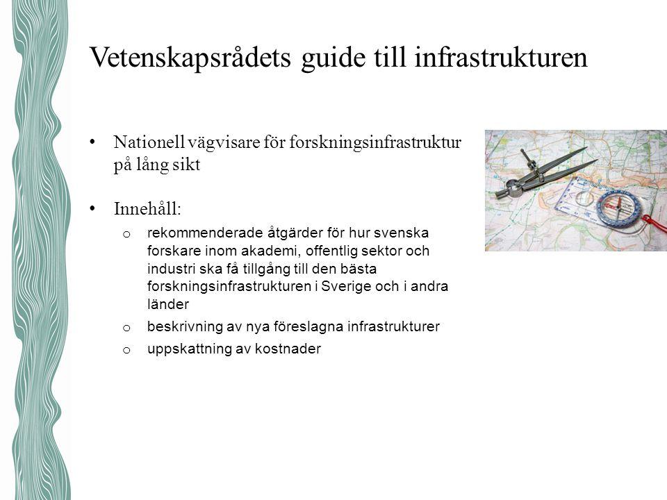 Vetenskapsrådets guide till infrastrukturen