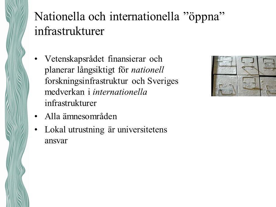 Nationella och internationella öppna infrastrukturer
