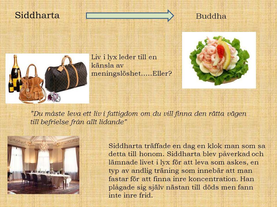 Siddharta Buddha. Liv i lyx leder till en känsla av meningslöshet…..Eller
