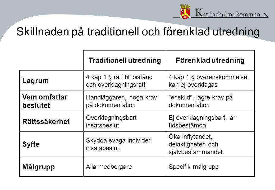 Skillnaden på traditionell och förenklad utredning