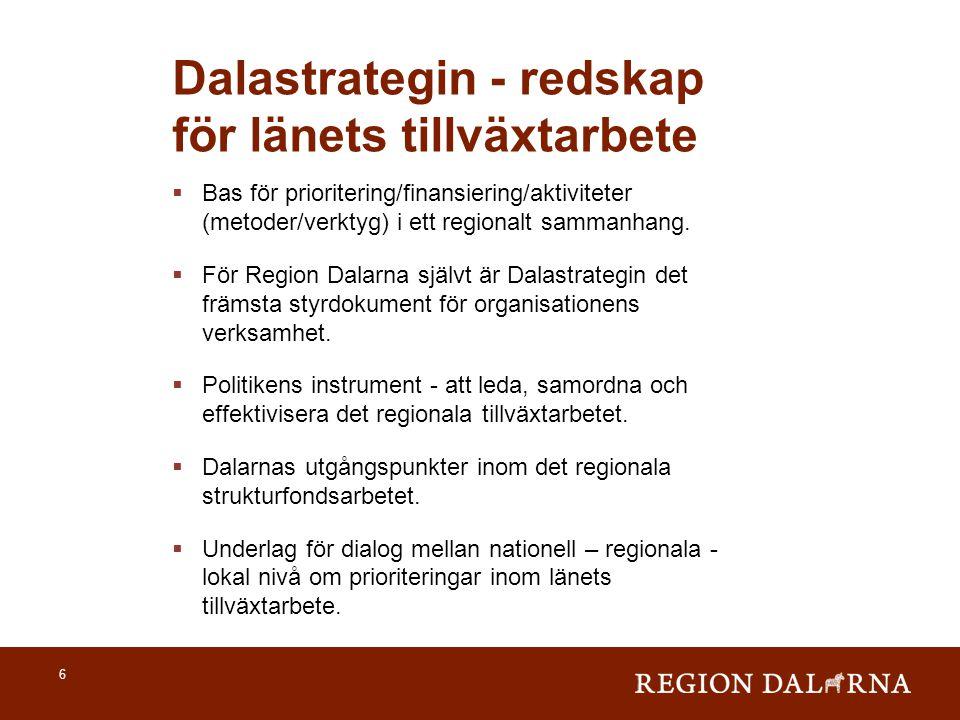 Dalastrategin - redskap för länets tillväxtarbete