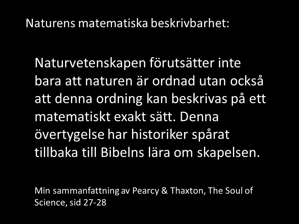 Naturens matematiska beskrivbarhet: