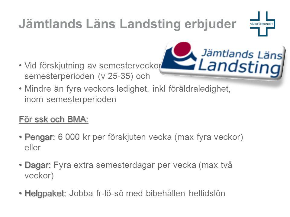 Jämtlands Läns Landsting erbjuder