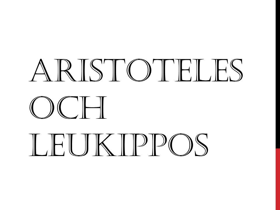 Aristoteles och Leukippos