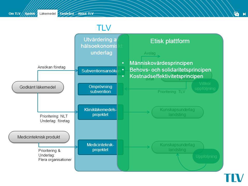 TLV Etisk plattform Utvärdering av hälsoekonomiskt underlag