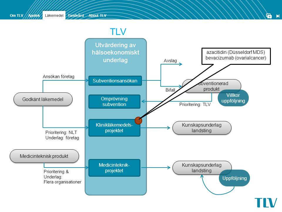 TLV Utvärdering av hälsoekonomiskt underlag