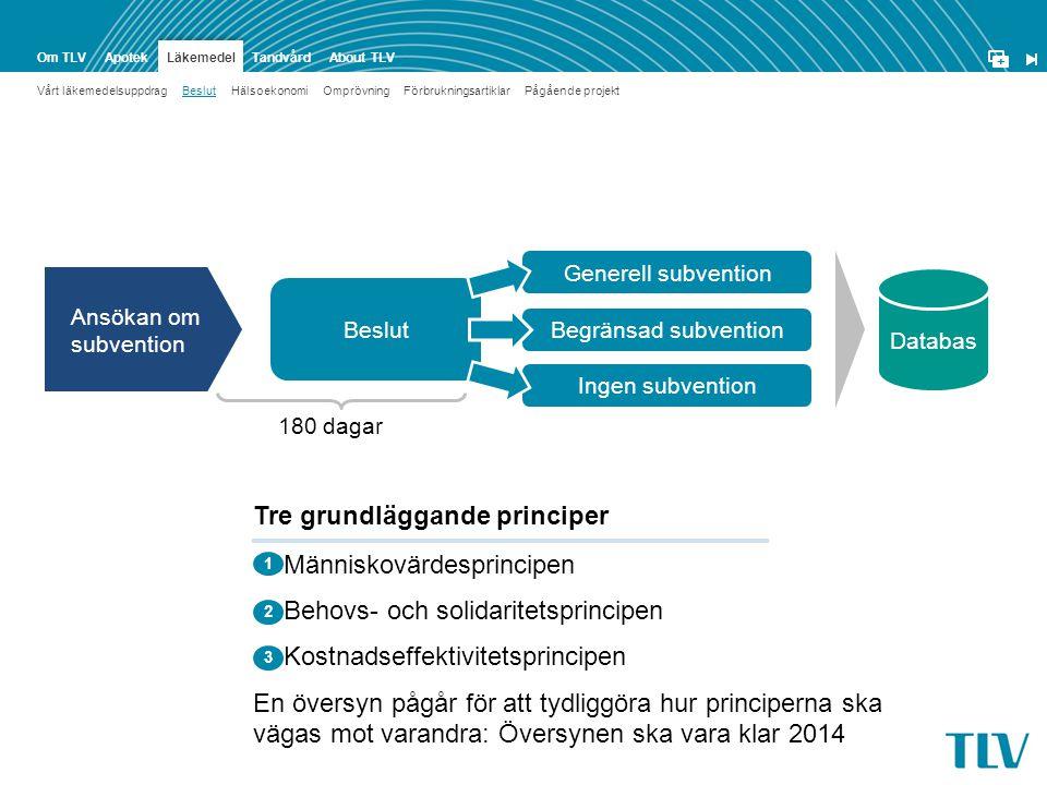Tre grundläggande principer Människovärdesprincipen