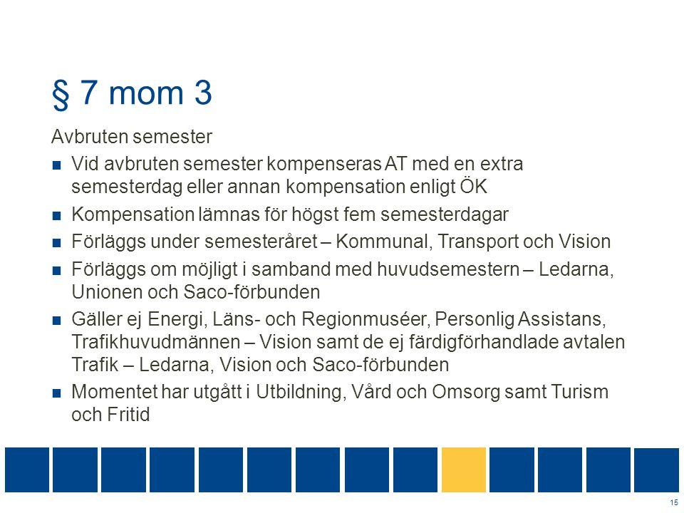 § 7 mom 3 Avbruten semester