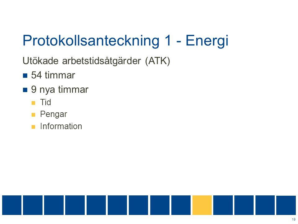 Protokollsanteckning 1 - Energi