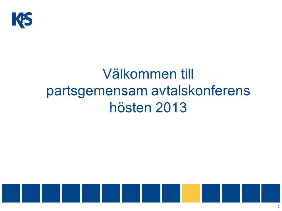 Välkommen till partsgemensam avtalskonferens hösten 2013
