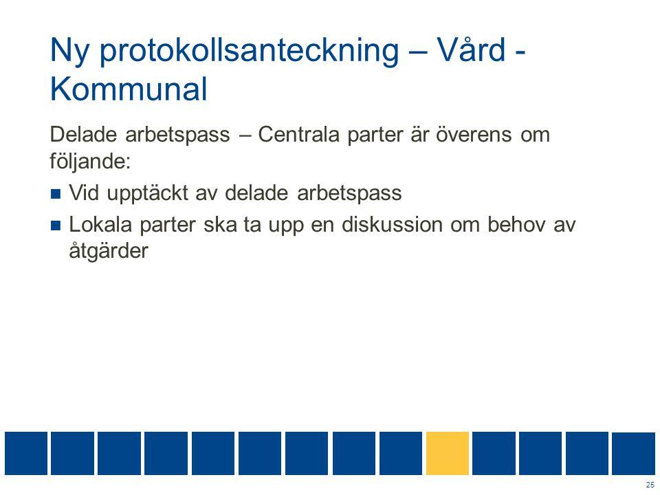 Ny protokollsanteckning – Vård -Kommunal