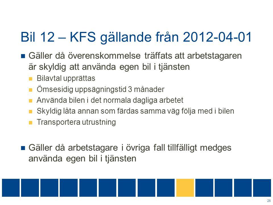 Bil 12 – KFS gällande från 2012-04-01