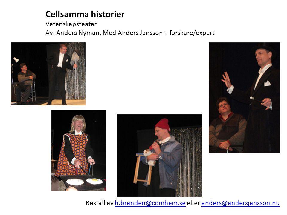 Cellsamma historier Vetenskapsteater