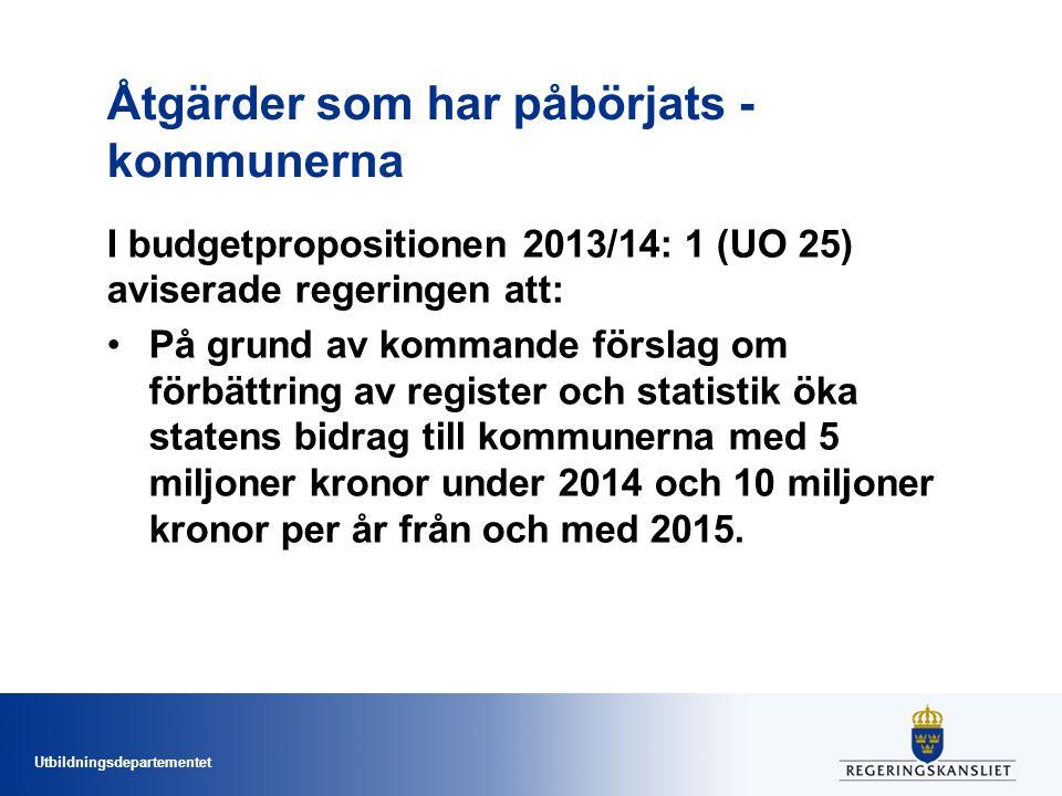 Åtgärder som har påbörjats - kommunerna