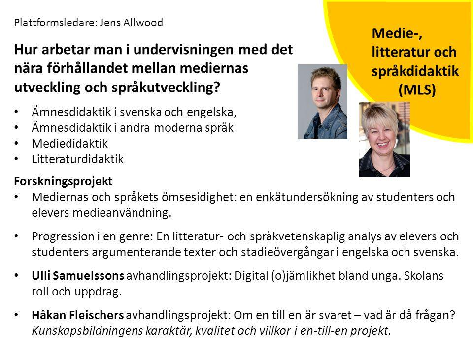 Medie-, litteratur och språkdidaktik