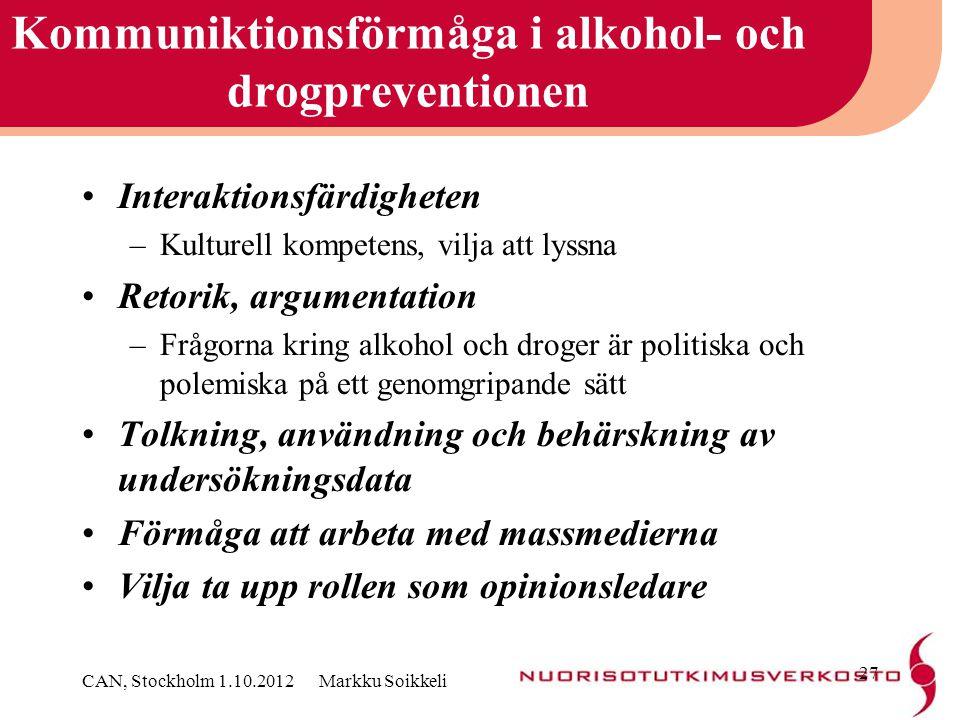 Kommuniktionsförmåga i alkohol- och drogpreventionen