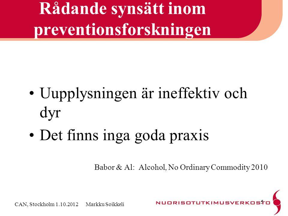 Rådande synsätt inom preventionsforskningen