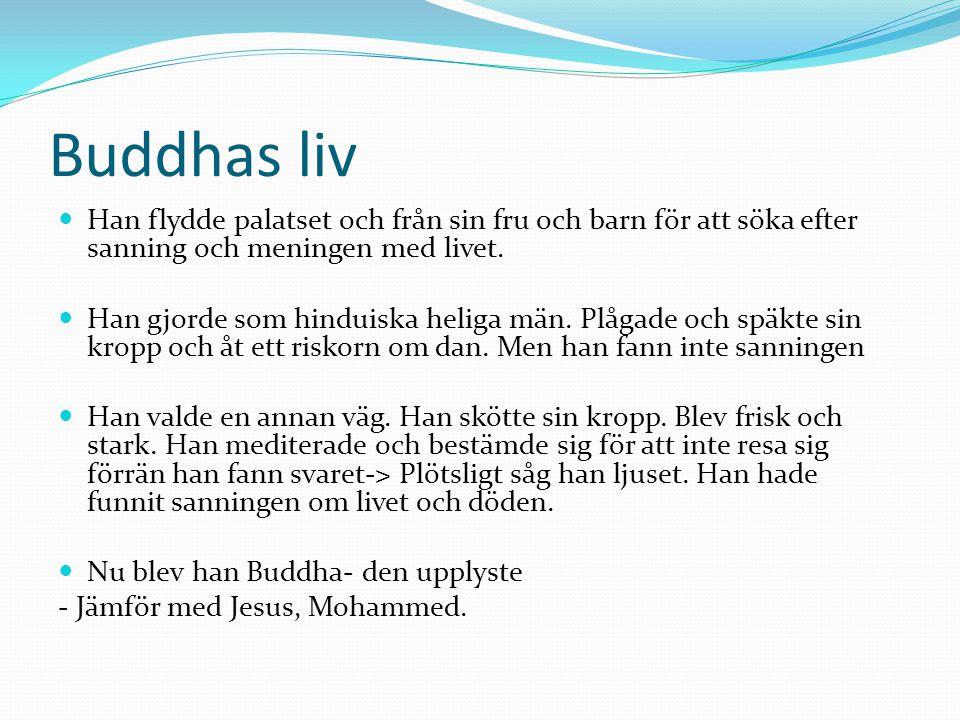 Buddhas liv Han flydde palatset och från sin fru och barn för att söka efter sanning och meningen med livet.