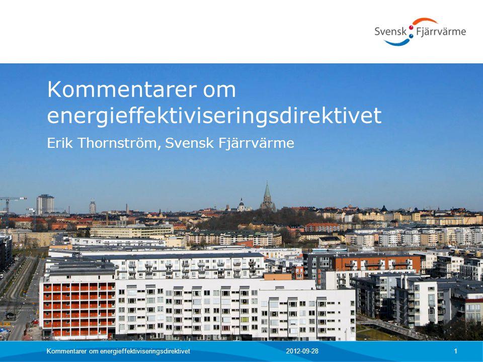 Kommentarer om energieffektiviseringsdirektivet