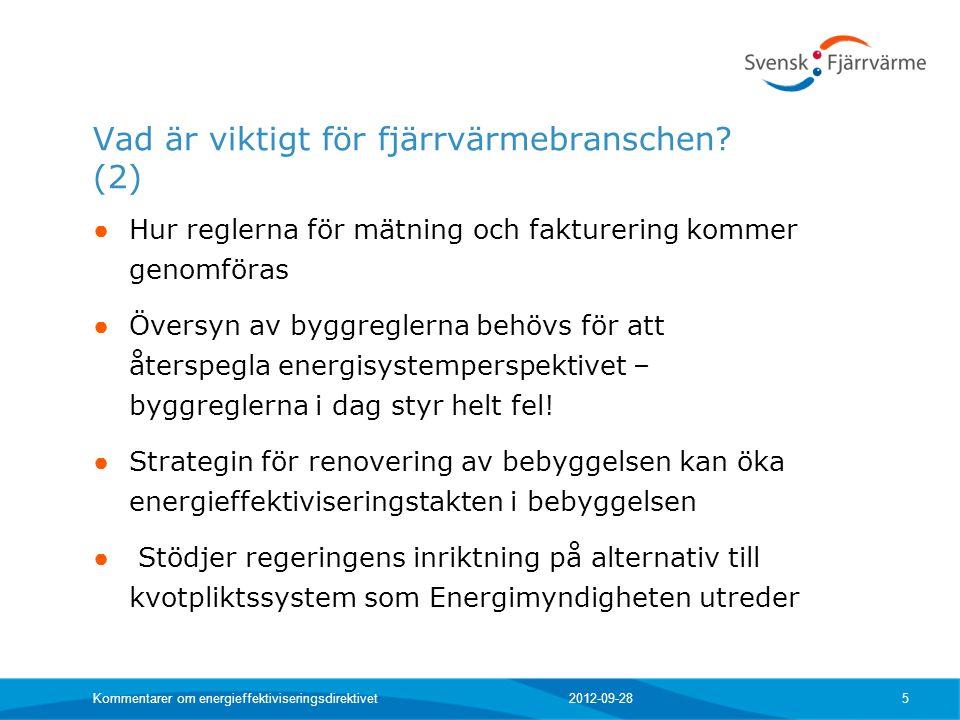 Vad är viktigt för fjärrvärmebranschen (2)