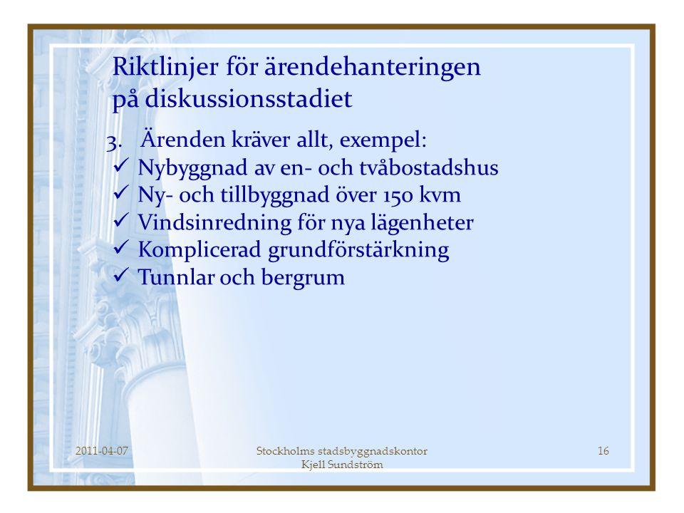 Stockholms stadsbyggnadskontor Kjell Sundström