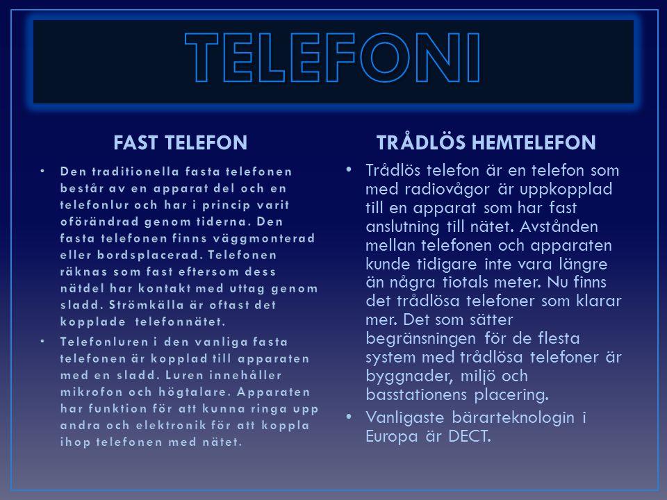 TELEFONI FAST TELEFON TRÅDLÖS HEMTELEFON