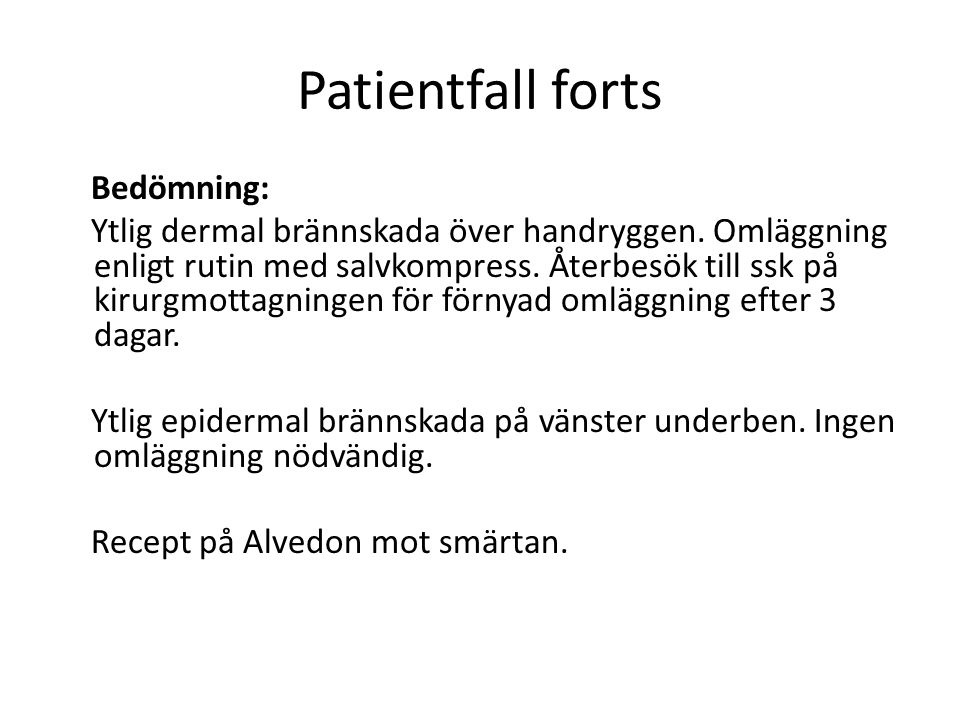 Patientfall forts
