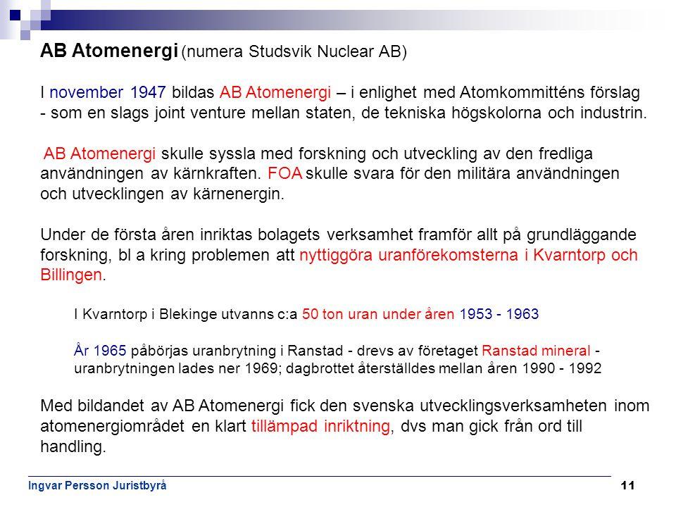 AB Atomenergi (numera Studsvik Nuclear AB)