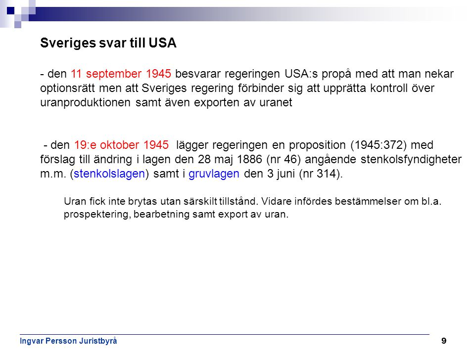 Sveriges svar till USA