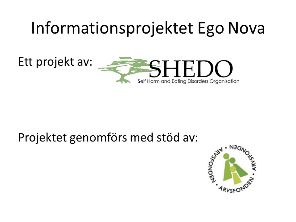 Informationsprojektet Ego Nova