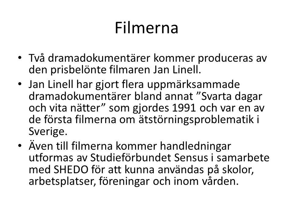 Filmerna Två dramadokumentärer kommer produceras av den prisbelönte filmaren Jan Linell.