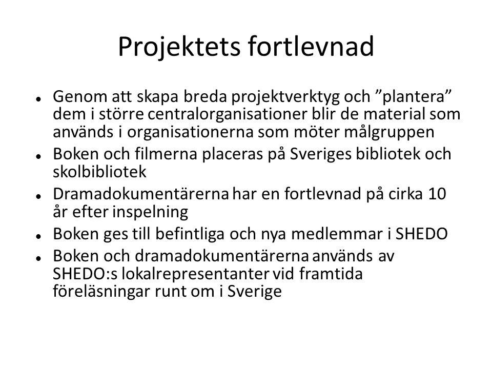 Projektets fortlevnad