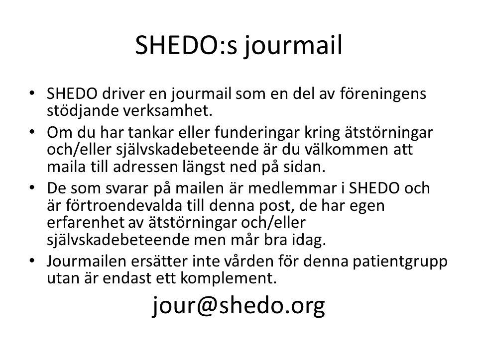 SHEDO:s jourmail jour@shedo.org