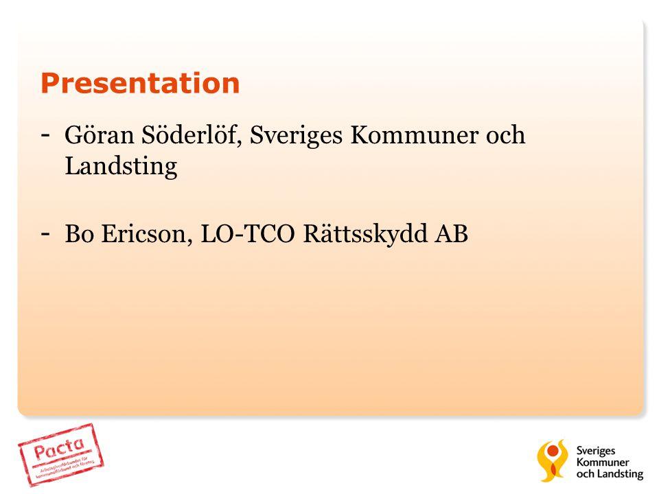 Presentation Göran Söderlöf, Sveriges Kommuner och Landsting