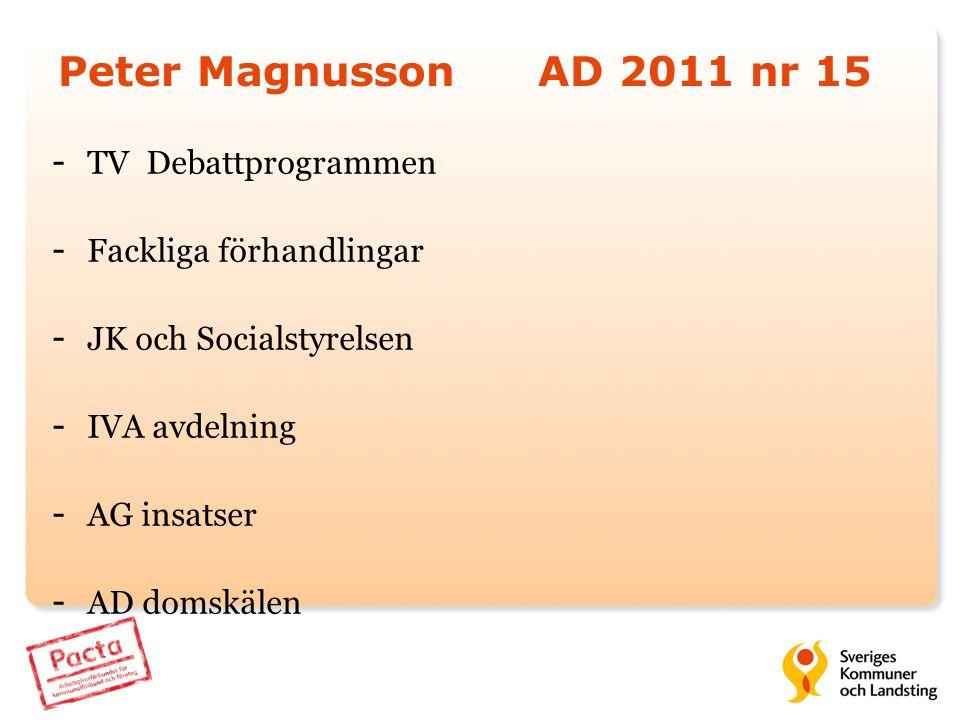 Peter Magnusson AD 2011 nr 15 TV Debattprogrammen