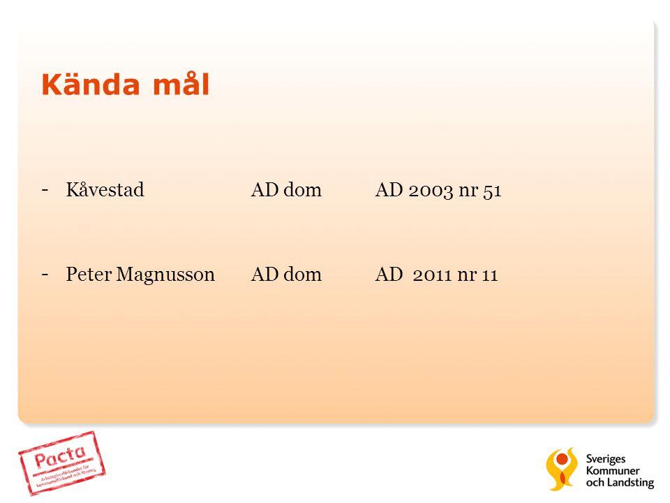 Kända mål Kåvestad AD dom AD 2003 nr 51