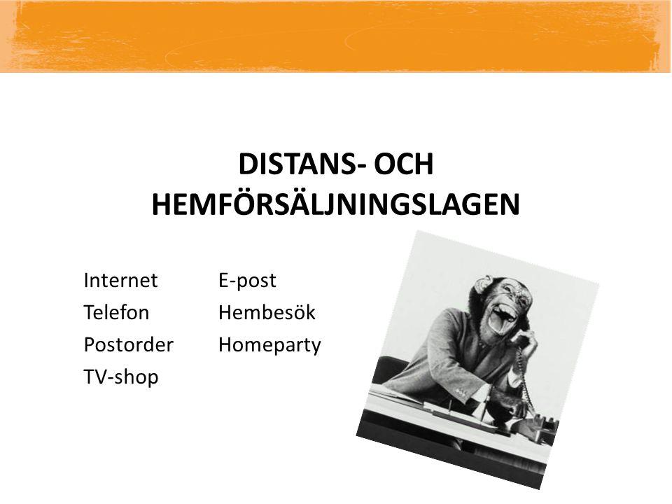 DISTANS- OCH HEMFÖRSÄLJNINGSLAGEN