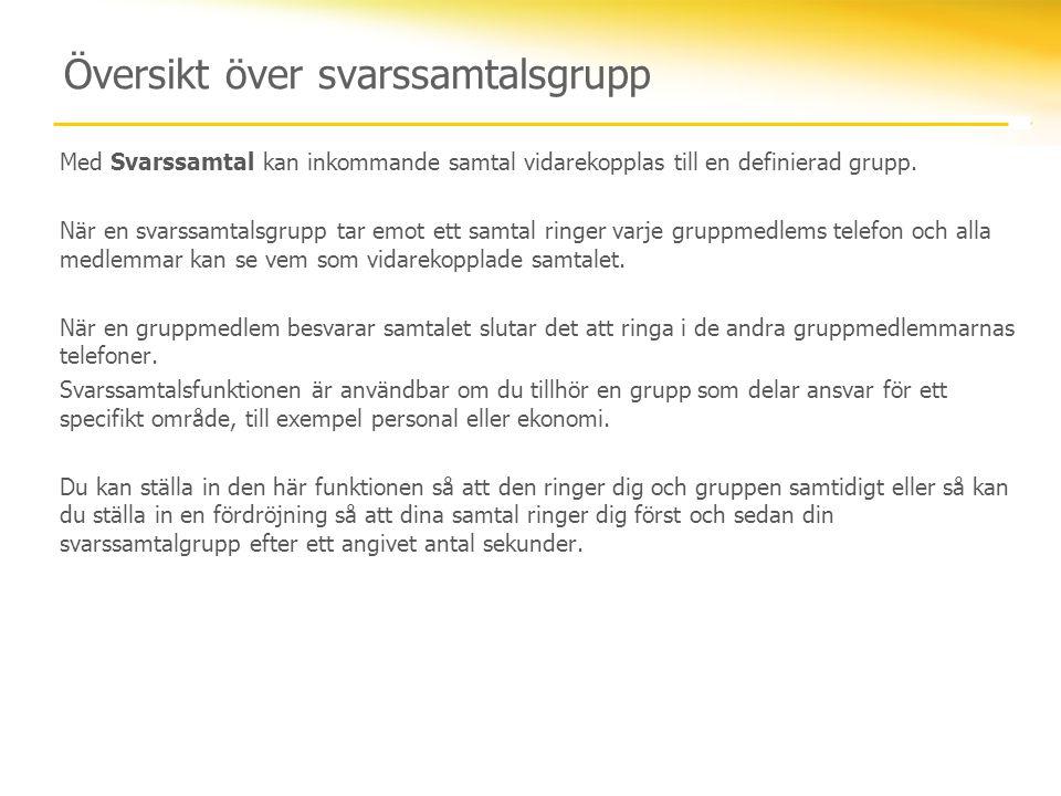 Översikt över svarssamtalsgrupp