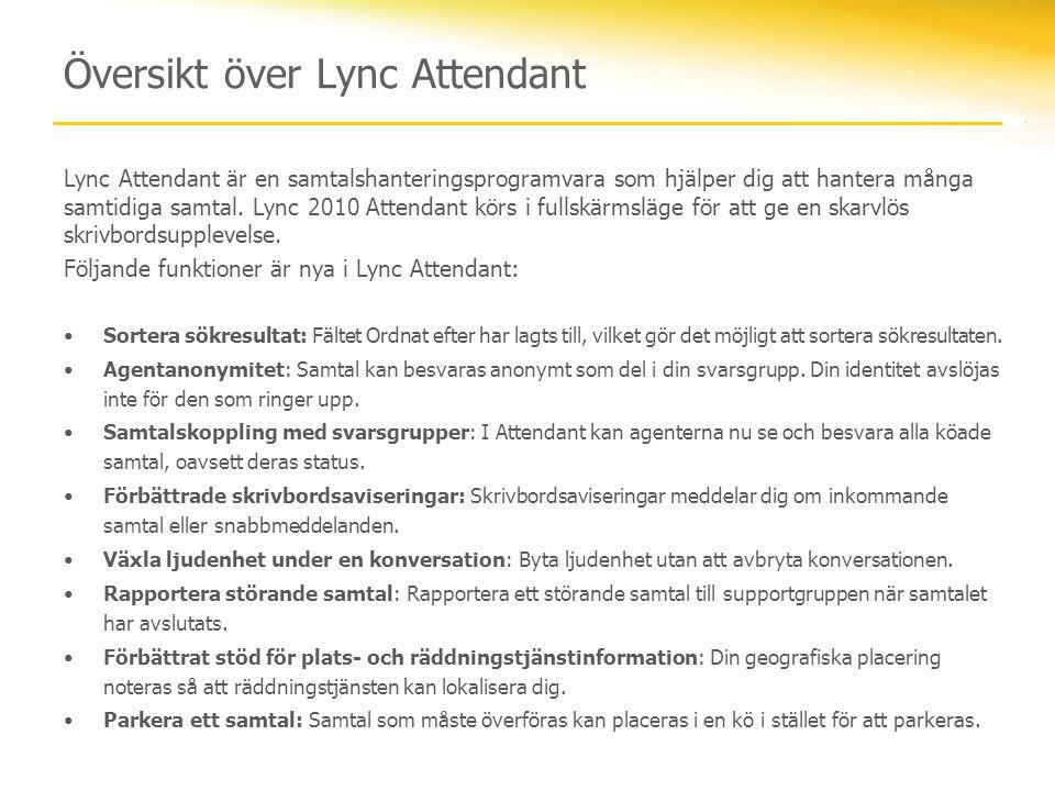 Översikt över Lync Attendant