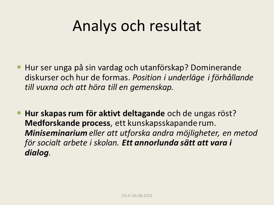 Analys och resultat