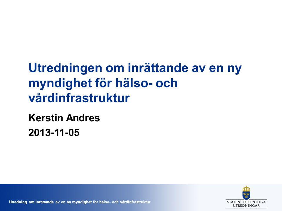 Utredningen om inrättande av en ny myndighet för hälso- och vårdinfrastruktur
