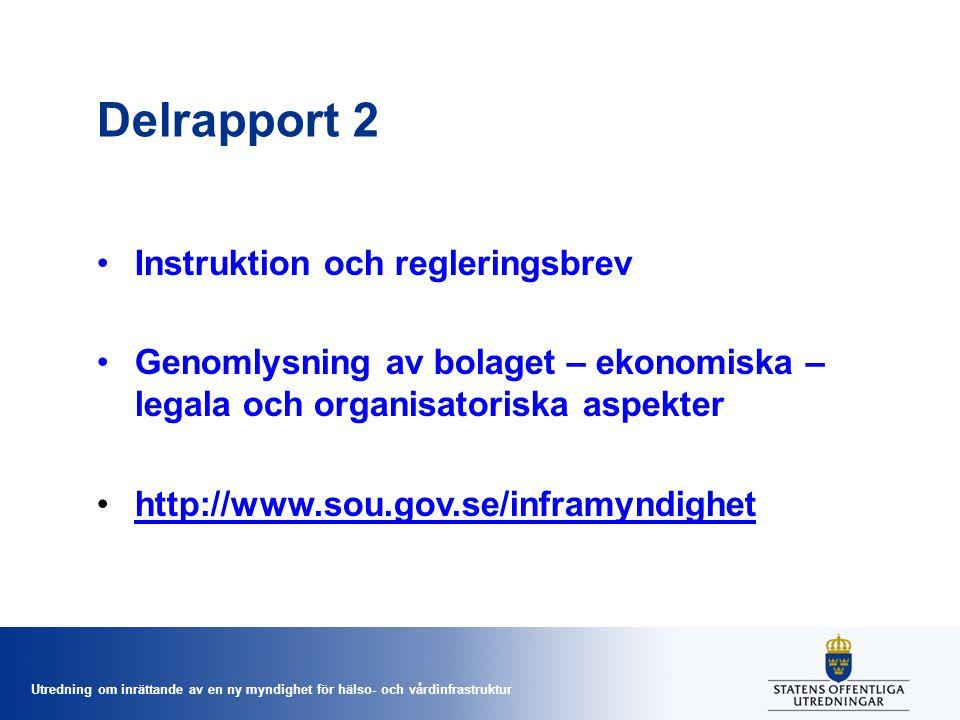 Delrapport 2 Instruktion och regleringsbrev