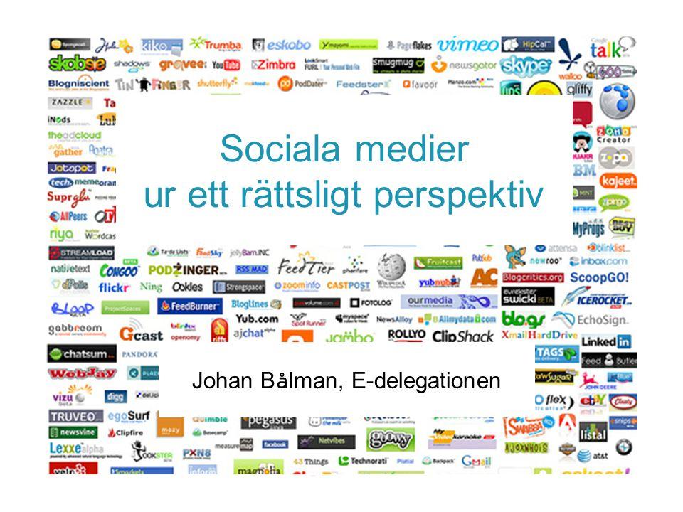 Sociala medier ur ett rättsligt perspektiv
