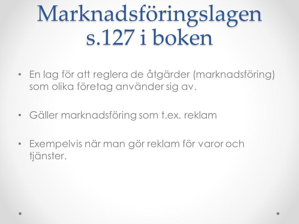 Marknadsföringslagen s.127 i boken
