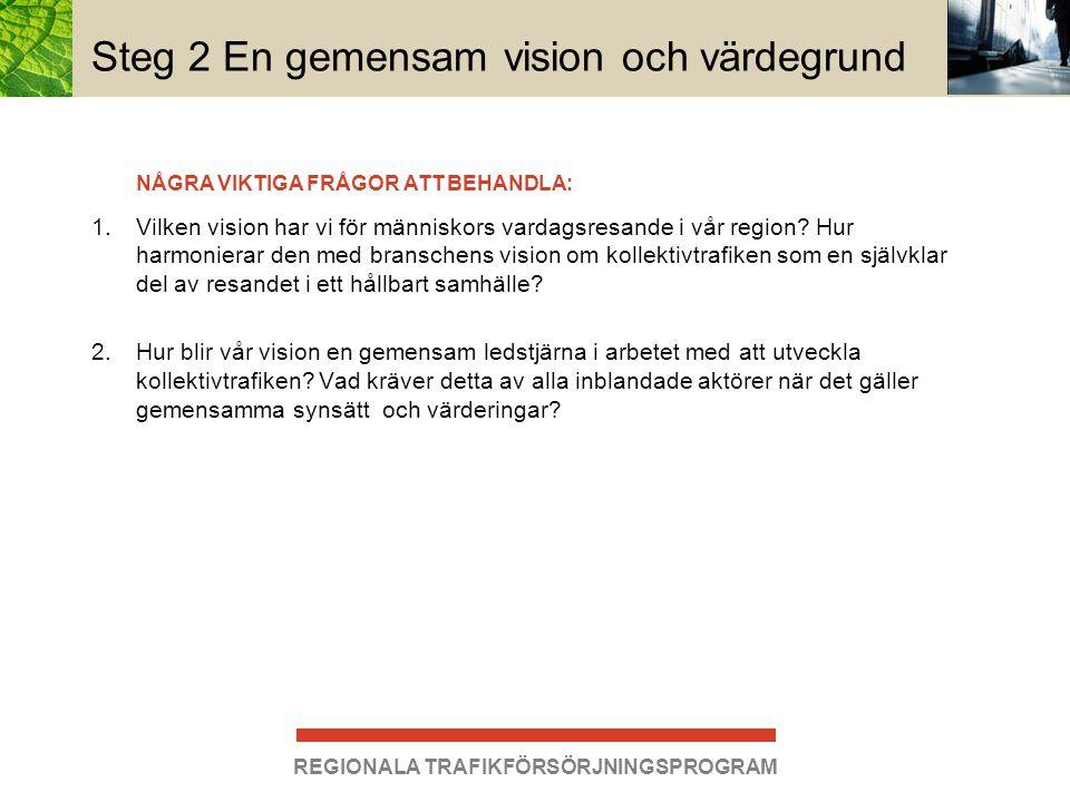 Steg 2 En gemensam vision och värdegrund