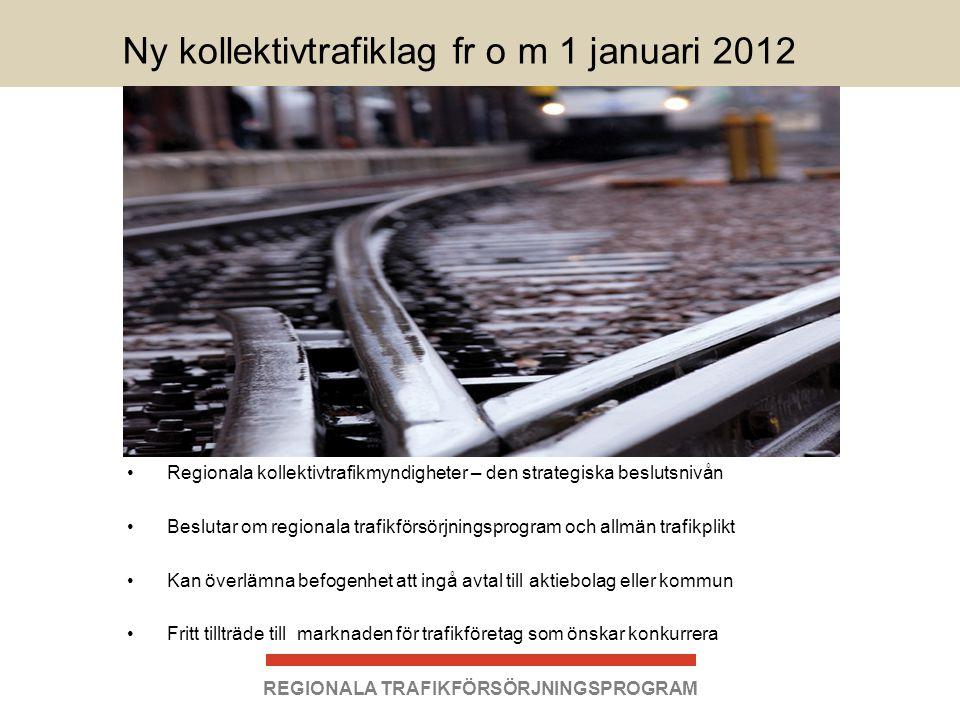 Ny kollektivtrafiklag fr o m 1 januari 2012