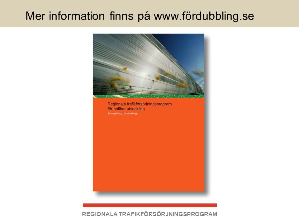 Mer information finns på www.fördubbling.se