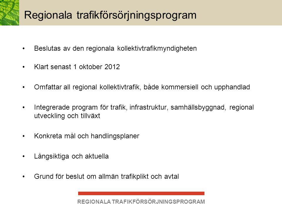 Regionala trafikförsörjningsprogram